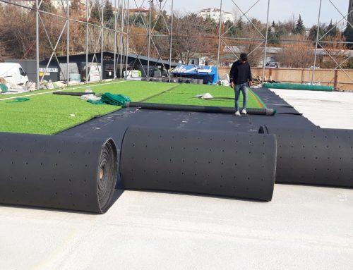 Erdaş inşaat A.Ş T.C Ulaştırma Alt Yapı Bakanlığı Ankara Merkez Yerleşke Otapark Üstü Halı Saha