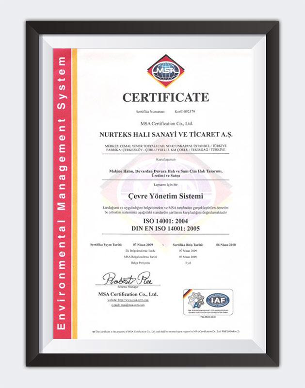 Çevre Yönetim Sistemi ISO 14001:2004