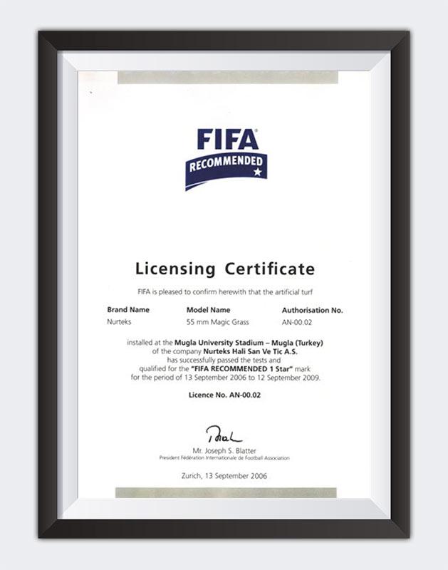 Kuzey Sports Sertifika Fifa Recommended