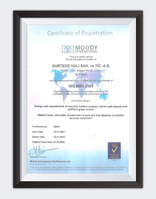 Kuzey Sports ISO 9001:2000