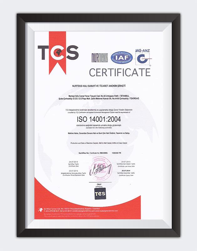 Kuzey Sports Sertifika TSC ISO 14001:2004